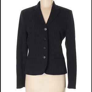 Chaps  Navy Blue Striped Blazer